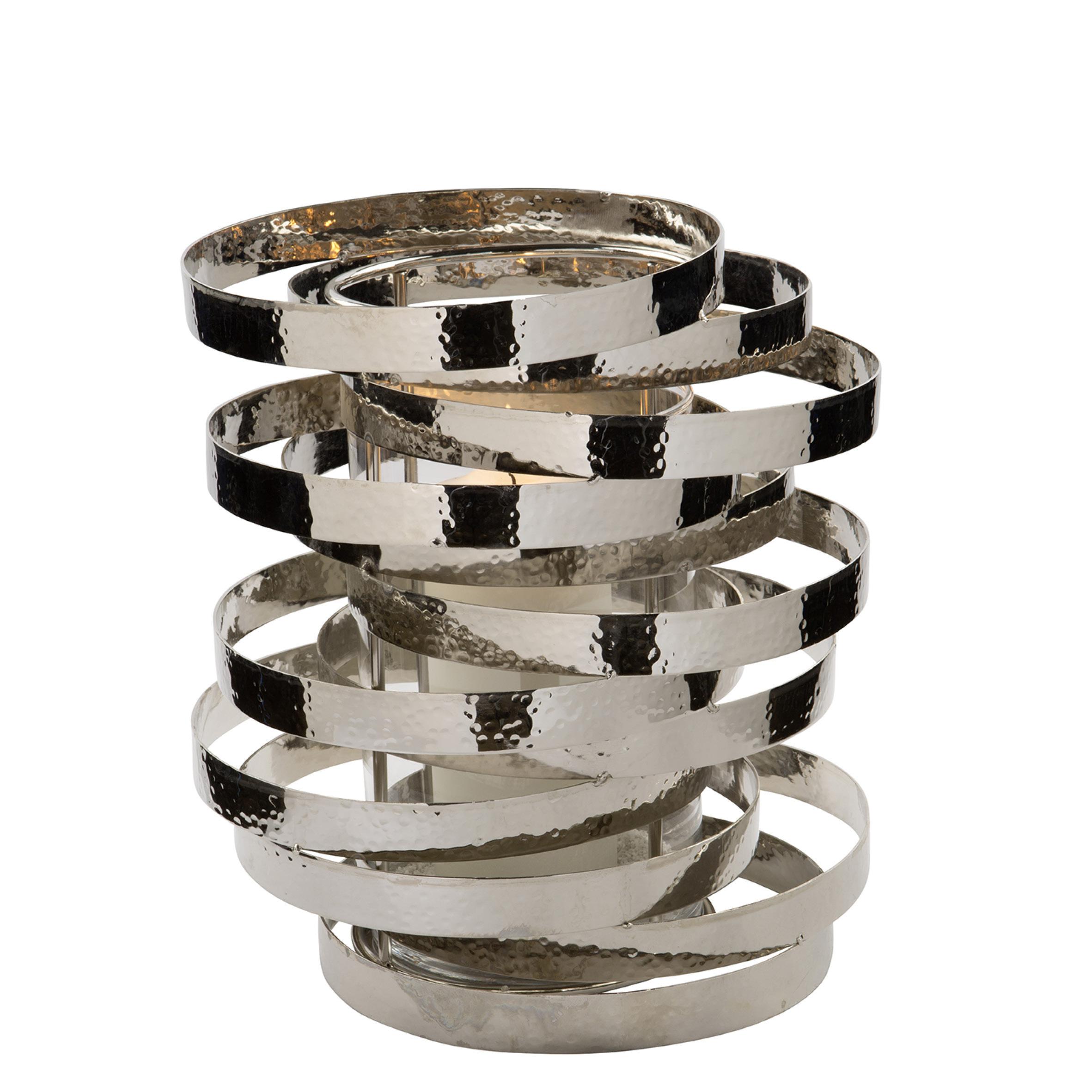 FINK Living Windlicht Mirage in groß gehämmertes Metall / Glas