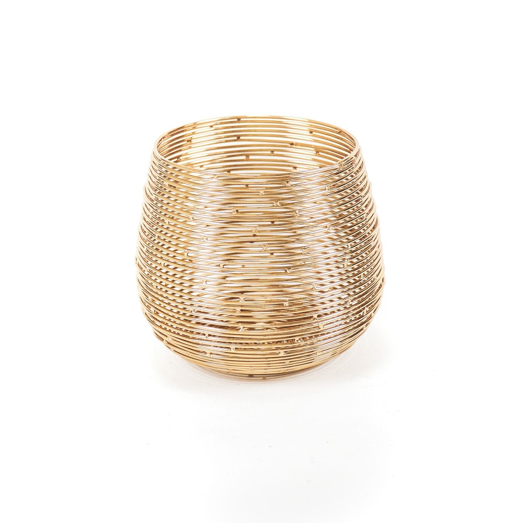 Teelichthalter Metall gold