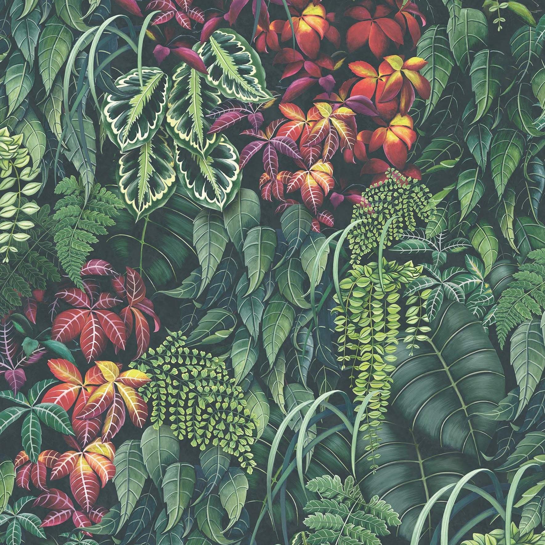 O&L Folium Green Wall Tapete