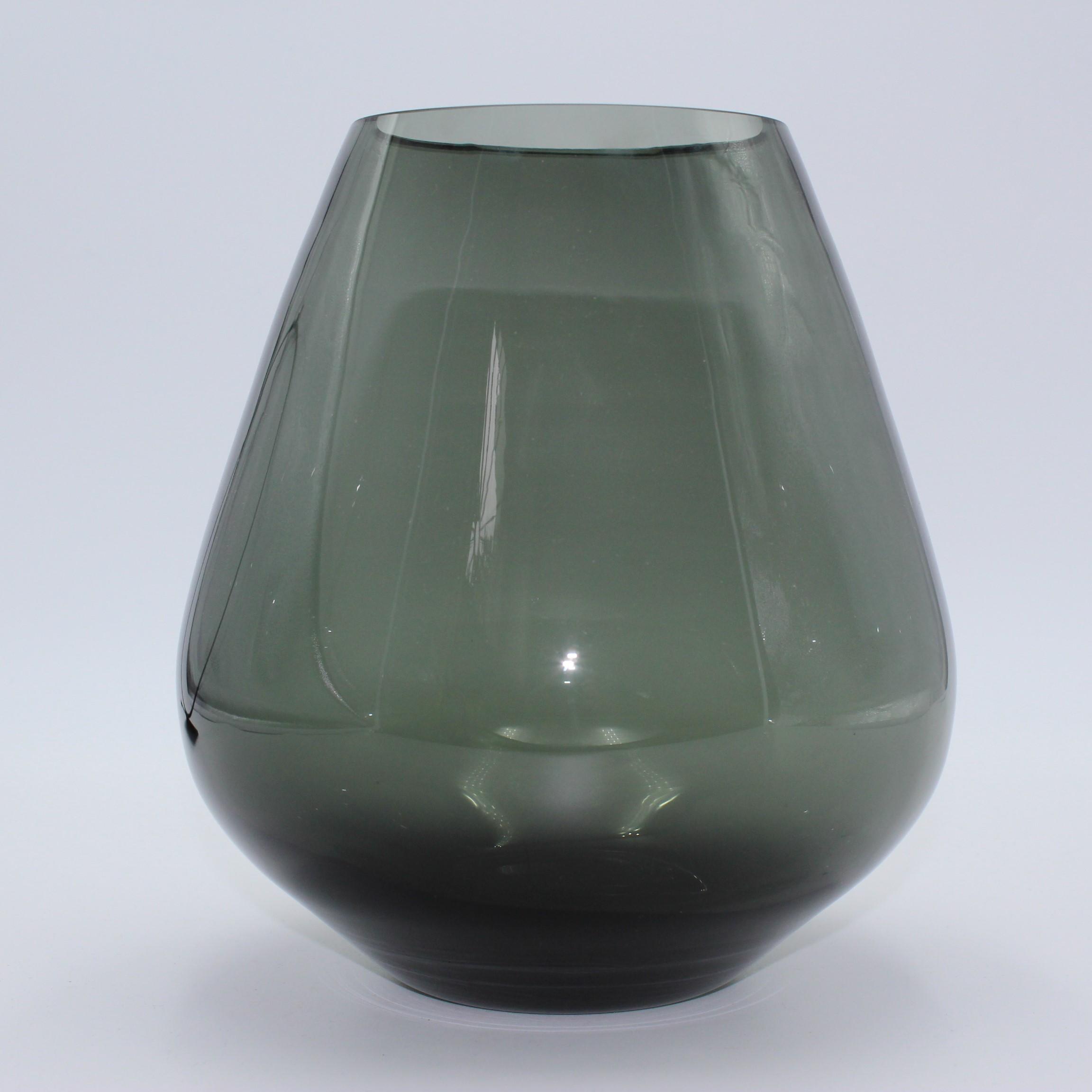 Edle Rauchglas Vase