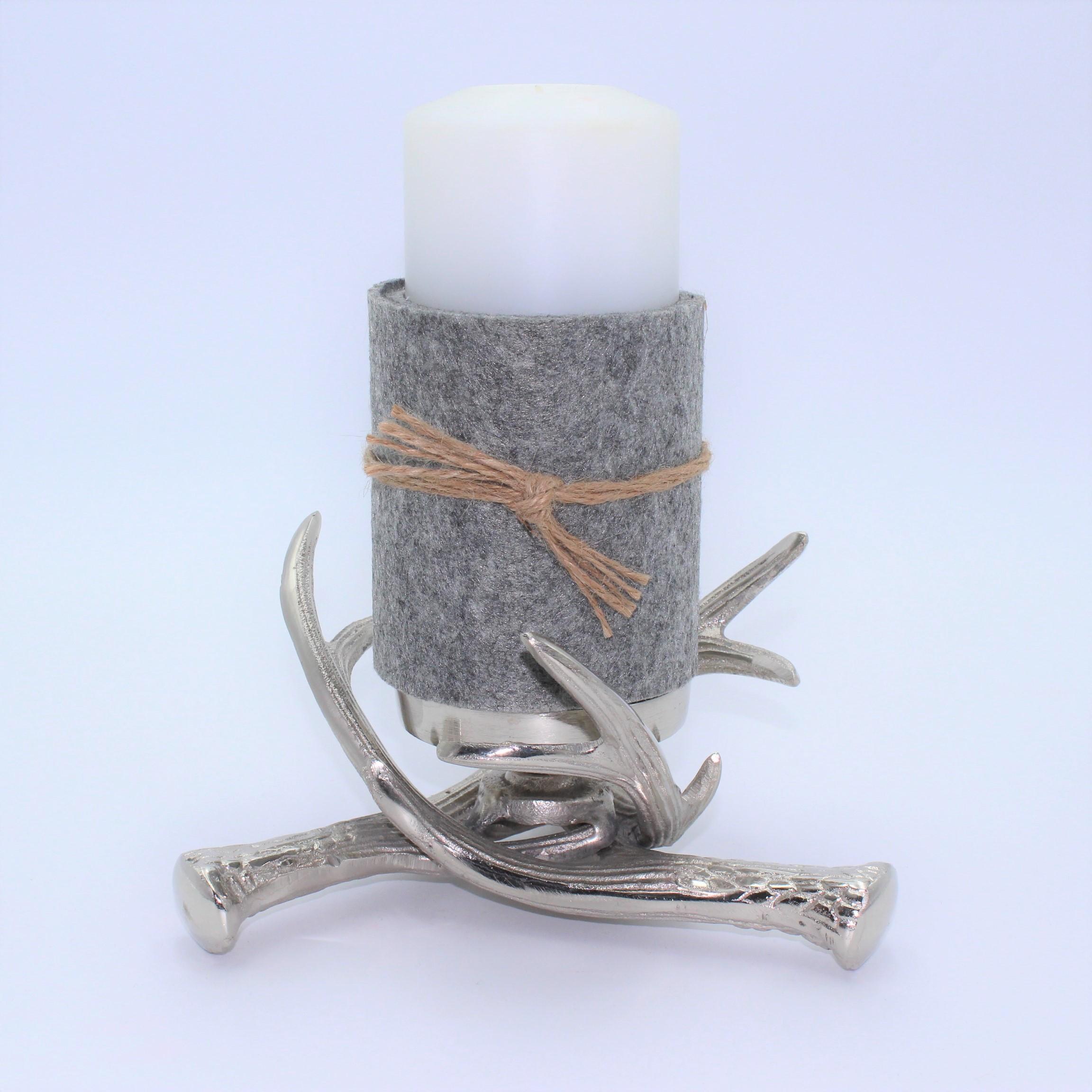 Kerzenhalter Stumpen Geweih