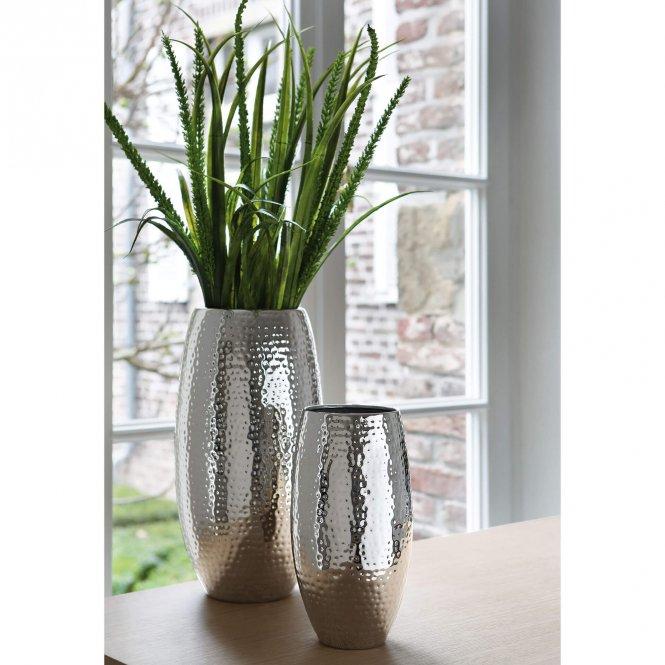 FINK Living Vase Africa Metall gehämmert